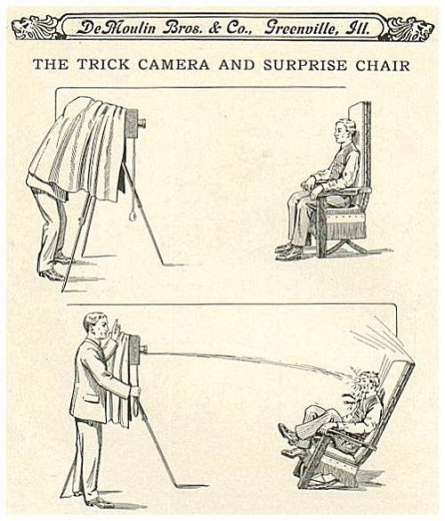 Arrangement with Trick Camera and Surprise Chair.