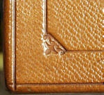 Beautiful fleur-de-lis leather embossing.