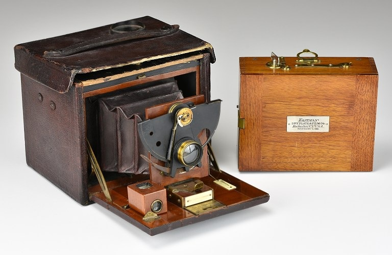 1890 No.4 Folding Kodak Camera with matching roll holder