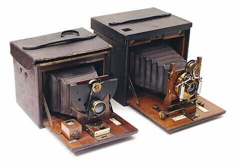 No.4 Folding Kodak Cameras, 1890 & 97.