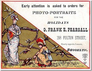 Frank's 1880s tradecard.