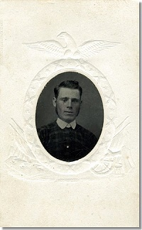 Tintype of Frank Pearsall