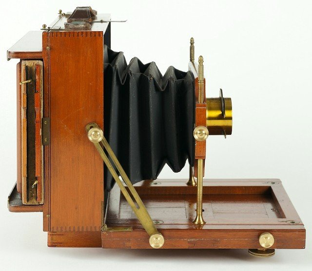 Side view of the S&A Compact Camera, c1892