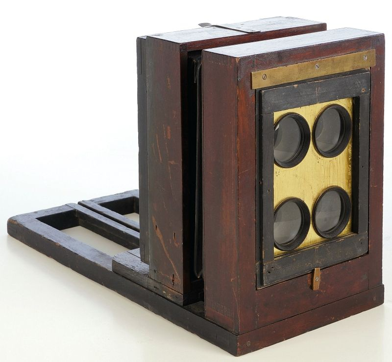 1870s 4-tube Scovill Ferrotype Bon Ton View Box